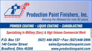 Powder Coating, Liquid Coating, Sandblasting