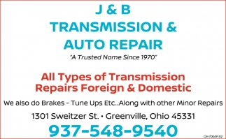 All Types of Transmission Repairs Foreign & Domestic