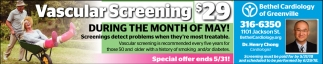 Vascular Screening $29