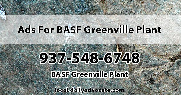 Ads for BASF Greenville Plant